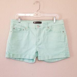 Levi's Mint Green Cuffed Denim Shorts Size 8